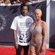 Wiz Khalifa et sa femme Amber Rose - Cérémonie des MTV Video Music Awards à Inglewood. Le 24 août 2014