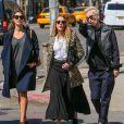 Amber Heard est allée déjeuner avec des amis, dont Io, à New York, le 16 avril 2015.
