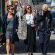 Amber Heard est allée déjeuner avec des amis à New York, le 16 avril 2015.