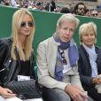Les parents de Thomas Berdych et sa fiancée le mannequin Ester Satorova ont assisté à la victoire de Novak Djokovic en 3 sets sur Tomas Berdych en finale de la 109ème édition du Monte Carlo Rolex Masters à Roquebrune-Cap-Martin le 19 avril 2015.
