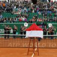 Tournoi de tennis Rolex Masters de Monte-Carlo à Roquebrune-Cap-Martin, le 19 avril 2015.