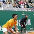 Novak Djokovic - Tournoi de tennis Rolex Masters de Monte-Carlo à Roquebrune-Cap-Martin, le 19 avril 2015.