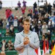 Tomas Berdych - Tournoi de tennis Rolex Masters de Monte-Carlo à Roquebrune-Cap-Martin, le 19 avril 2015.