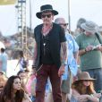 """Johnny Hallyday au 5 ème jour du Festival de """"Coachella Valley Music and Arts"""" à Indio Le 18 avril 2015"""