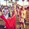 Laeticia Hallyday avec ses copines Hoda Roche et Marie Poniatowski à Coachella, pour Hozier