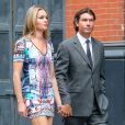 Exclusif - Rebecca Romijn et Jerry O'Connell arrivent au mariage de Jesse Tyler Ferguson et Justin Mikita a New york, le 20 juillet 2013