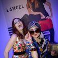 Catherine Baba et Elodie Frégé - Soirée de lancement de la collection Pop de Lancel au Palais de Tokyo à Paris, le 23 avril 2015.