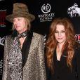 """Lisa Marie Presley et son mari Michael Lockwood à la soirée """"Elvis The Exhibition - The Show - The Experience"""" à Las Vegas, le 23 avril 2015"""