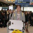 Vivian, à l'aéroport de Charles-de-Gaulle à Paris, le 14 mars 2015.