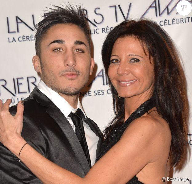 Vivian et Nathalie (Secret Story 8) aux Lauriers TV Awards 2015 à la Cigale à Paris, le 6 janvier 2015.