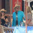 Exclusif - Bob Geldof et sa fiancée Jeanne Marine en vacances à Ibiza le 8 septembre 2014.