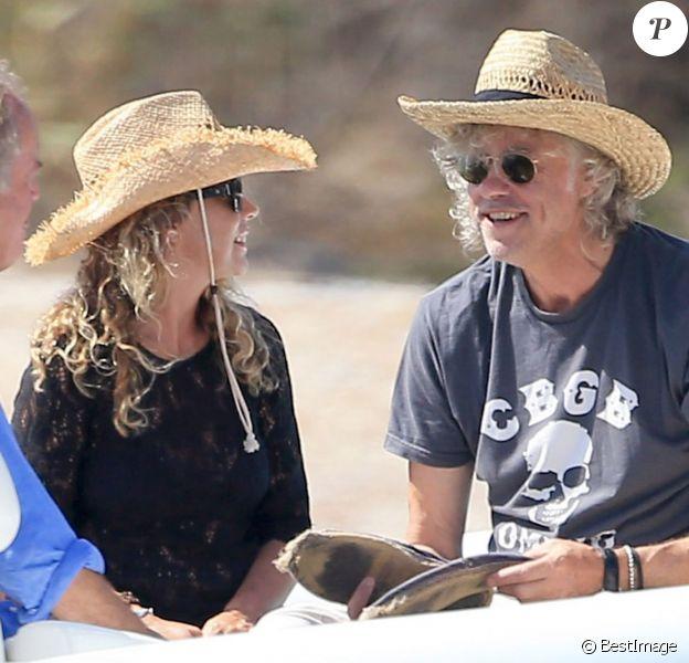 Bob Geldof et sa fiancée Jeanne Marine en vacances à Ibiza le 8 septembre 2014.