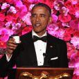 Barack Obama d'un dîner en l'honneur du Premier ministre japonais Shinzo Abe à la Maison Blanche à Washington le 28 avril 2015.