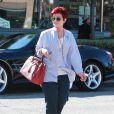 Sharon Osbourne est allée déjeuner avec une amie à West Hollywood, le 28 avril 2015