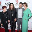 Jack Osbourne et sa femme Lisa Stelly, Sharon Osbourne, Ozzy Osbourne - Soirée Brent Shapiro Foundation Summer Spectacular à Beverly Hills, le 14 septembre 2014.