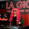 """Exclusif - Lââm aux platines du restaurant La Gioia lors de la soirée """"Les musiques de la Gioia"""" à Paris, le 29 avril 2015."""