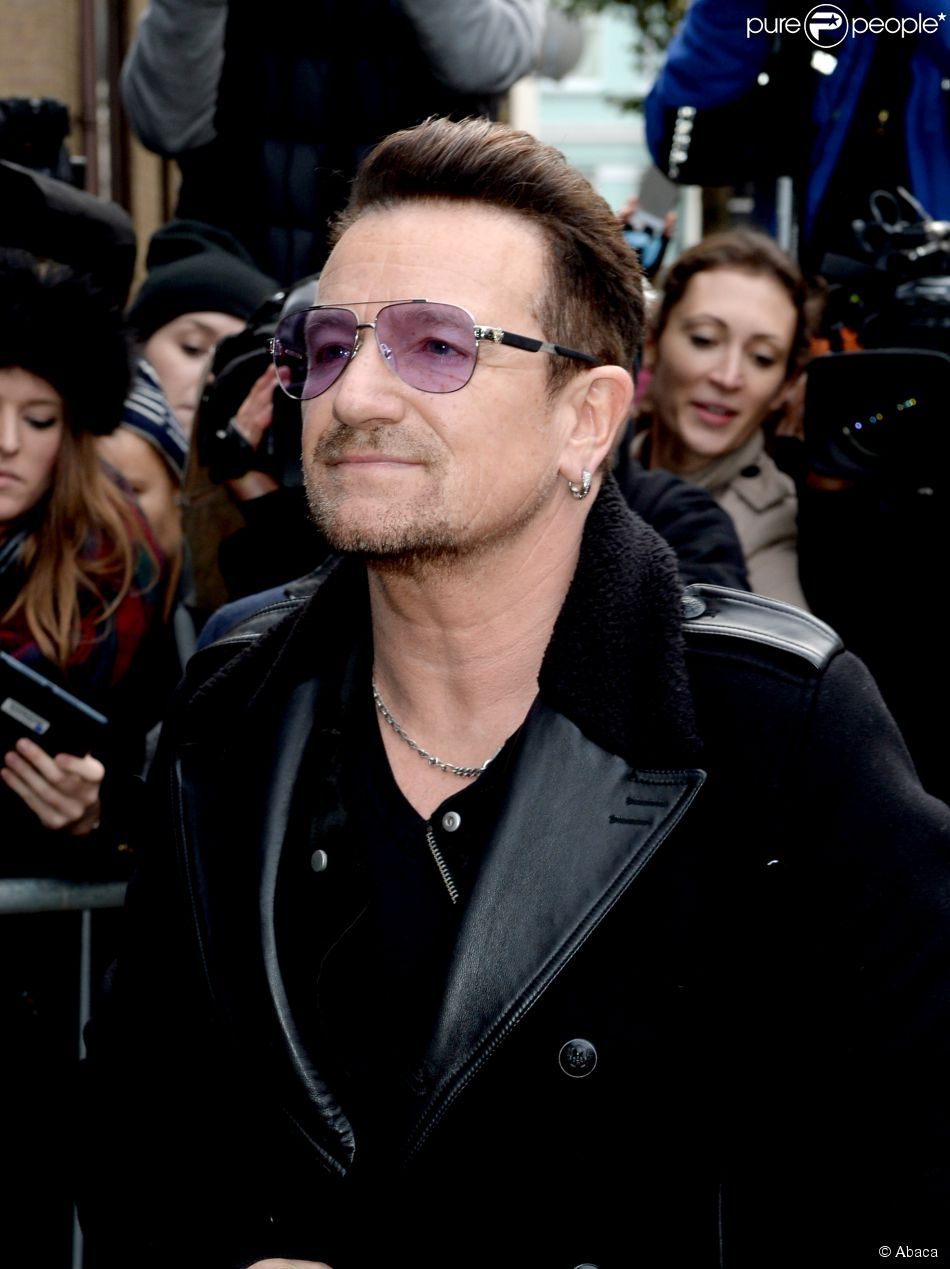 Bono arriving at the Band Aid 30 recording at Sarm Studios in central London , UK, on November 15, 2014. Photo by Doug Peters/PA Wire/ABACAPRESS.COM15/11/2014 - London