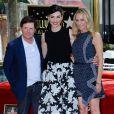 Julianna Margulies, Michael J. Fox et sa femme Tracy Pollan - Julianna Margulies reçoit son étoile sur le  Walk of Fame  à Hollywood, le 1er mai 2015.
