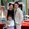 Julianna Margulies avec son époux Keith Lieberthal et leur fils Kieran Lieberthal - Julianna Margulies reçoit son étoile sur le  Walk of Fame  à Hollywood, le 1er mai 2015.