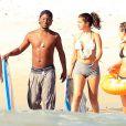 Exclusif - Selena Gomez à la plage lors de ses vacances avec des amis à Mexico, le 18 avril 2015.
