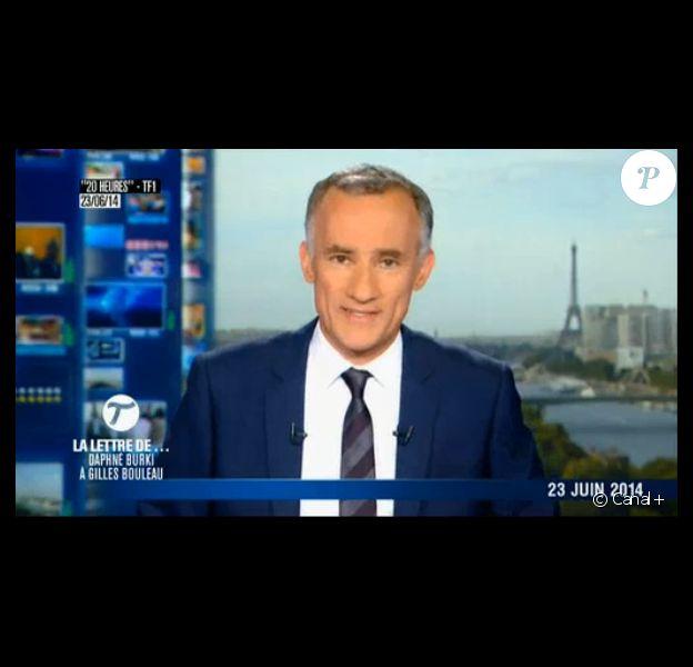 Gilles Bouleau dans Le Tube sur Canal+, le samedi 5 juillet 2014.