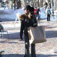 Lori Loughlin fait du shopping à Aspen, le 24 décembre 2014.