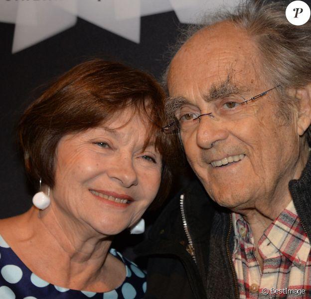 Macha Méril et son mari Michel Legrand - Rétrospective Philippe de Broca à la Cinémathèque française à Paris, le 6 mai 2015.