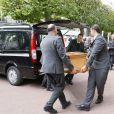 Obsèques de Henriette Ragon alias Patachou en l'église Saint-Justin à Levallois-Perret, le 7 mai 2015.