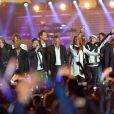 Début de soirée, Patrick Hernandez, Emile et images, Chris Marques, Vincent Cerutti, François Feldman, Julie Piétri, Laroche Valmont, Jean-Pierre Mader - Concert Stars 80 au Stade de France à Saint-Denis le 9 mai 2015.