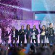 Jean-Pierre Mader, Julie Piétri, Lio, Début de Soirée, Emile et Images, Joniece Jamison - Concert Stars 80 au Stade de France à Saint-Denis le 9 mai 2015.