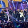 Pauline Ester, Phil Barnay, Joniece Jamison, Jean Schultheis, Patrick Hernandez, Sabrina, Jean-Pierre Mader et Julie Piétri - Concert Stars 80 au Stade de France à Saint-Denis le 9 mai 2015.