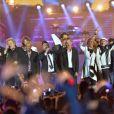 Début de Soirée, Patrick Hernandez, Emile et Images, Chris Marques, François Feldman, Julie Piétri et Laroche Valmont - Concert Stars 80 au Stade de France à Saint-Denis le 9 mai 2015.
