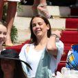 Alexandra de Hanovre, Pauline Ducruet et Camille Gottlieb - Baptême de Jacques et Gabriella en la cathédrale Notre-Dame-Immaculée de Monaco le 10 mai 2015