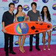 Paul Wesly, Nina Dobrev, Ian Somerhalder, Kat Graham lors des Teen Choice Awards à Los Angeles, le 22 juillet 2012