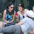 Exclusif - Kristen Stewart et sa supposée petite amie Alicia Cargile lors du 3e jour du festival Coachella Valley Music and Arts à Indio, le 19 avril 2015