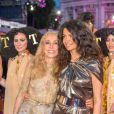 Franca Sozzani ( Vogue Italien), Afef Jnifen lors du Life Ball 2015 à Vienne, le 16 mai 2015