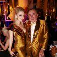 Richard Lugner avec sa femme Cathy Schmitz lors du Life Ball 2015 à Vienne, le 16 mai 2015