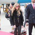 Carmen Electra - Arrivées des people à l'aéroport de Vienne pour le Life Ball 2015. Le 15 mai 2015