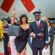 Yasmine Petty - Arrivées des people à l'aéroport de Vienne pour le Life Ball 2015. Le 15 mai 2015