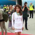 Paula Abdul - Arrivées des people à l'aéroport de Vienne pour le Life Ball 2015. Le 15 mai 2015