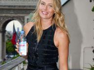 Maria Sharapova : Bouteille d'eau et nez de clown, la belle Russe charme Paris