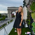 Maria Sharapova était à la Maison du Danemark pour Evian, le 18 mai 2015 à Paris