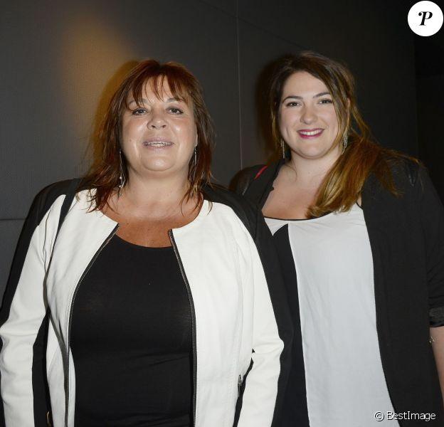 """Exclusif - Michèle Bernier et sa fille Charlotte Gaccio - Soirée """"Déguster du vin au restaurant Guy Savoy"""" à la Monnaie de Paris le 18 mai 2015."""