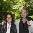"""Mazarine Pingeot et son compagnon Didier Le Bret - 19e édition de """"La Forêt des livres"""" à Chanceaux-près-Loches, le 31 août 2014."""