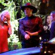 """Exclusif - Pamela Anderson, guest - Arrivée des people à une soirée privée au """"Lucy's El Adobe Cafe"""" à West Hollywood, le 9 avril 2015."""