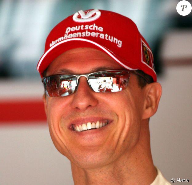 Michael Schumacher sur le circuit de Sepang à Kuala Lumpur, le 17 mars 2006