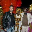 Exclusif - Richard Orlinski et Souleymane Cissé participent à la dernière soirée à la suite Sandra and Co organisée à l'occasion du 68e Festival international du film de Cannes, le 22 mai 2015.
