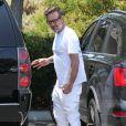 Exclusif - L'acteur David Arquette se promène avec sa femme Christina McLarty et leur fils Charlie à Malibu, le 24 mai 2015