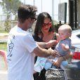 Exclusif - L'acteur David Arquette se promène en famille avec sa femme Christina McLarty et leur fils Charlie à Malibu, le 24 mai 2015