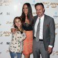 David Arquette avec sa femme Christina McLarty et sa fille Coco Arquette à la première de «Just Before I Go» à Hollywood, le 20 avril 2015